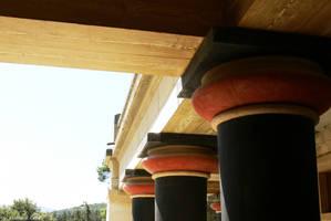 Greece - Crete - Knossos columns 02