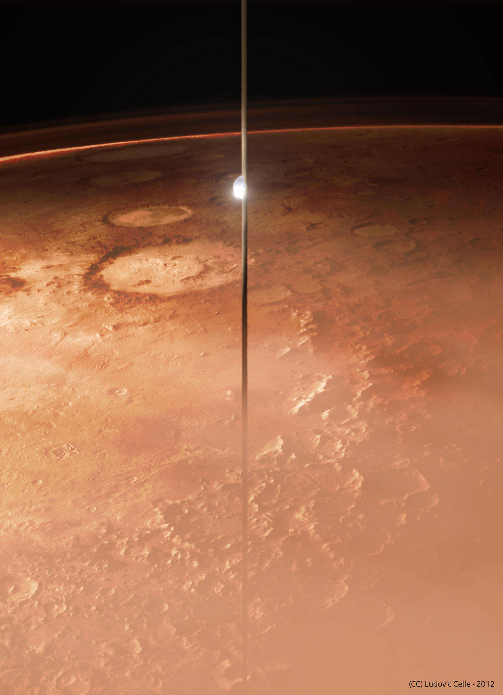 Mars and the space elevator by Ludo38