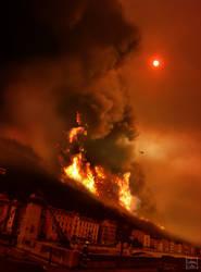 L'incendie du Mont Rachais by Ludo38