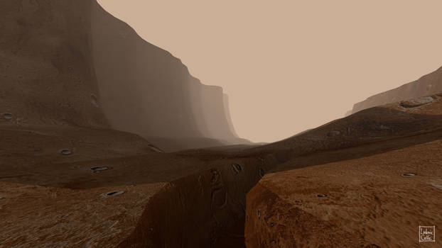 Blender - Mars canyon 01