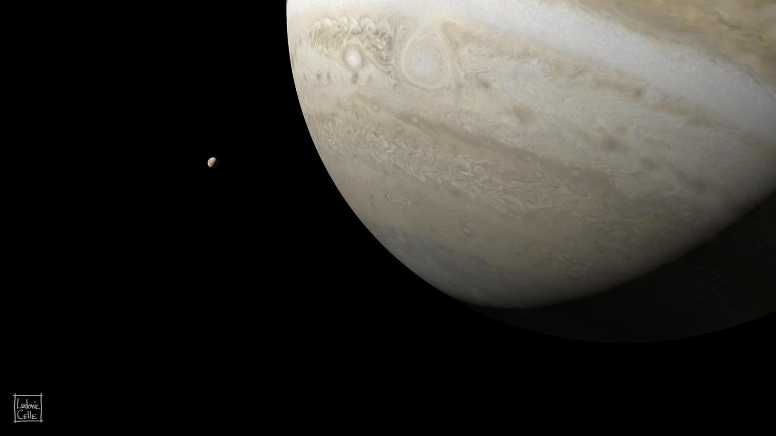 Blender - Jupiter + Europa by Ludo38