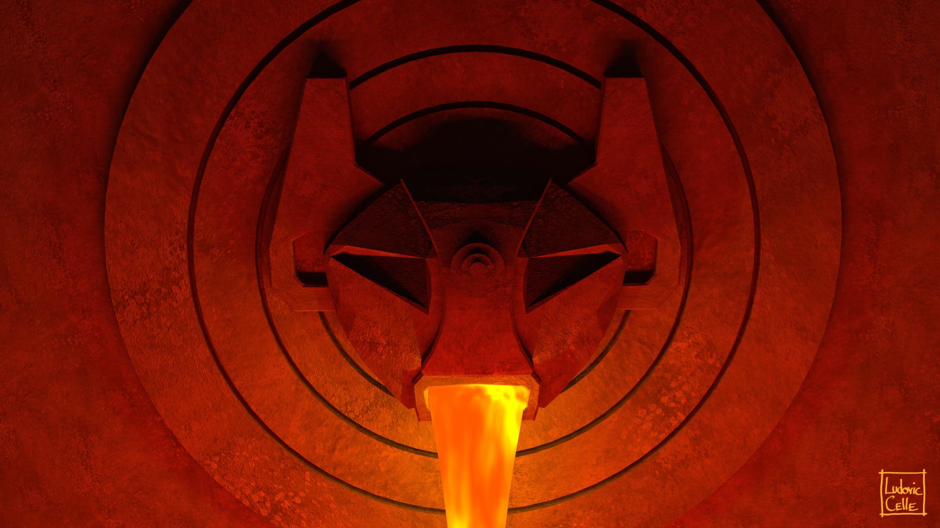 Blender - Atlantis statue 02 by Ludo38
