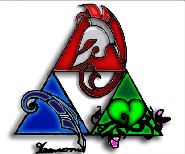 Triforce Colored by AbsyntheDreams