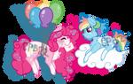 Pinkie Pie x Rainbow Dash by Cupcakeblue22