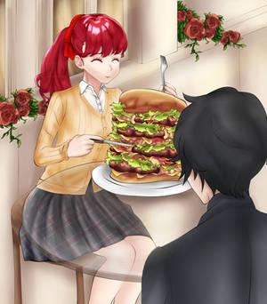 Persona 5 The Royal - Nuclear Chaos Burger!