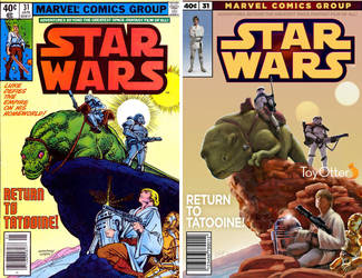 Marvel Star Wars Comic Cover recreation