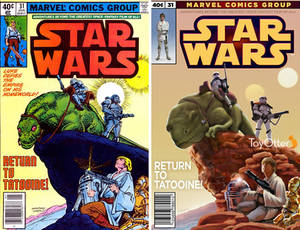 Marvel Star Wars Comic Cover recreation