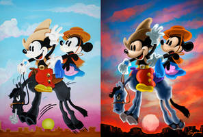 Cowboy Mickey And Minnie by ToyOtter