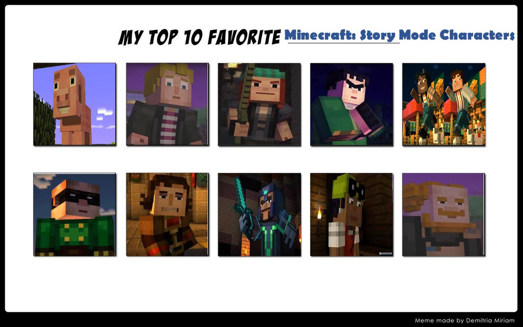 My Favorite Minecraft Story Mode Characters By Mariosonicfan16 On