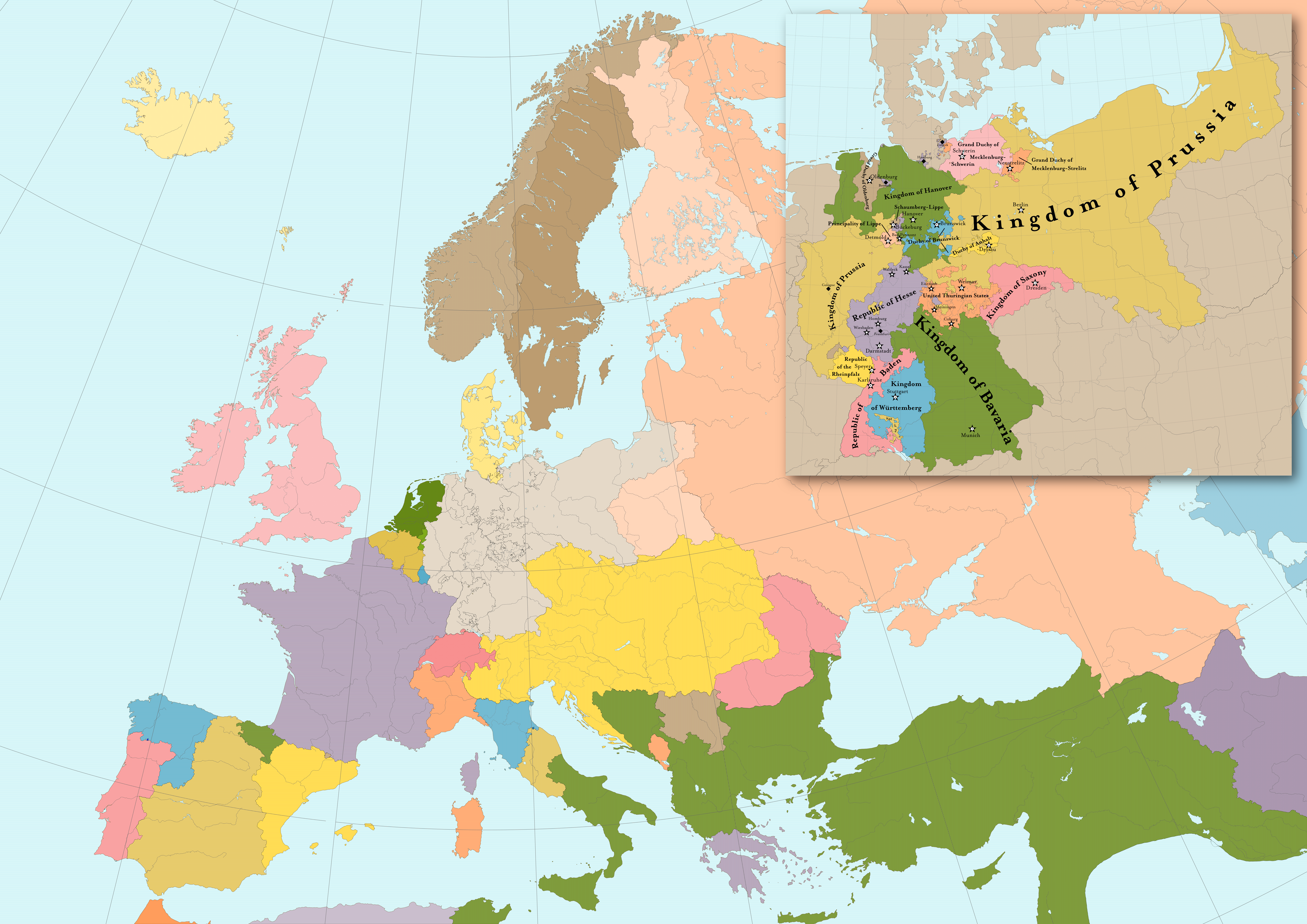 Preliminary Balance of Power 1871 Europe