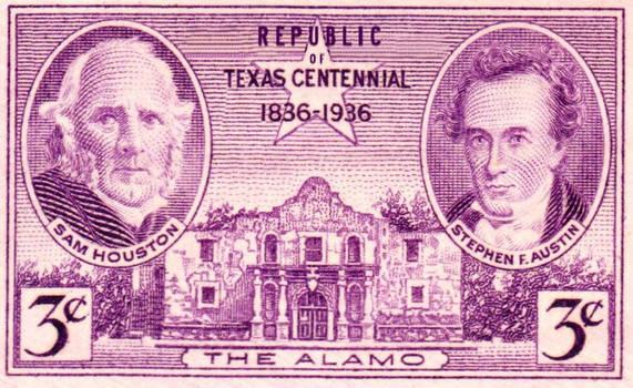 Republic of Texas Alamo Centennial Stamp 1936