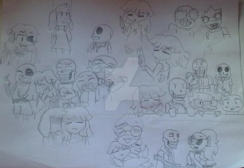 Undertale X Higurashi Doodles By Aquana145 On DeviantArt