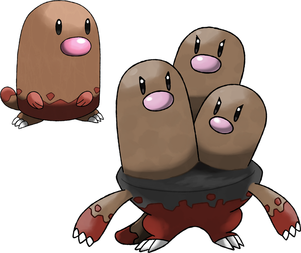 Diglett and Dugtrio  Surface Forms  by Marix20Diglett Evolution