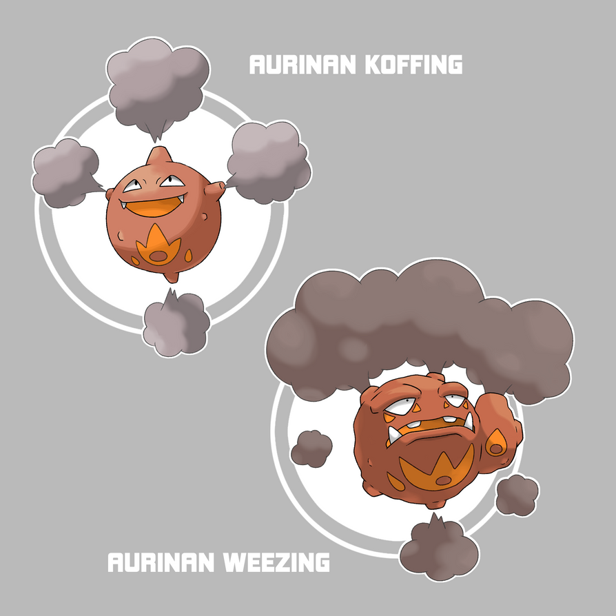 Aurinan Koffing and Weezing by Marix20 on DeviantArt