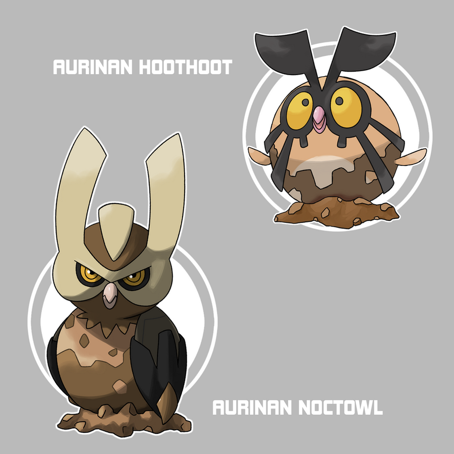 Aurinan Hoothoot and Noctowl by Marix20