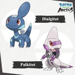 Baby Dialga and Palkia