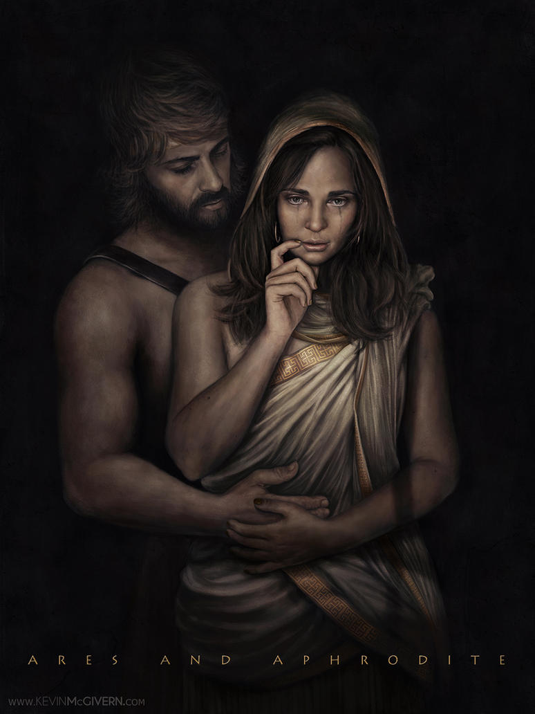 Ares and Aphrodite by kevmcgivernart