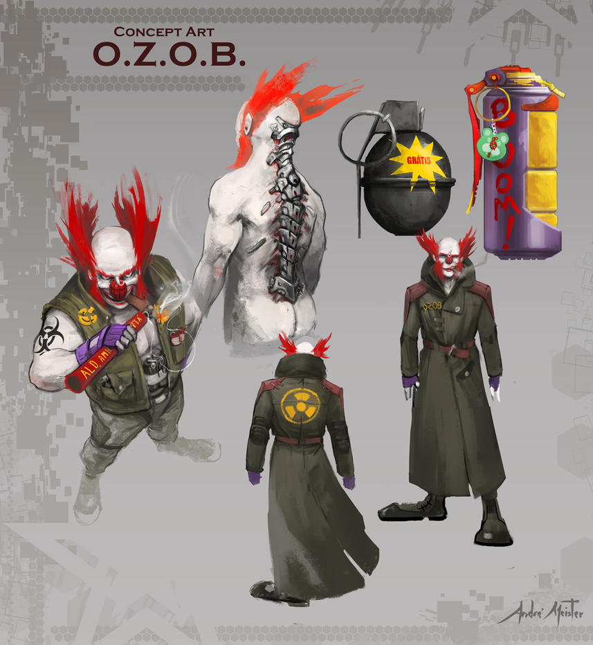 O.Z.O.B. - CyberPunk Clown by drehmeister