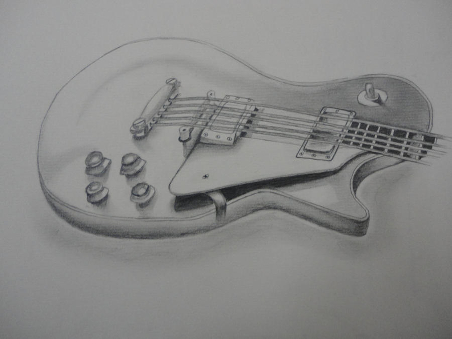 Guitar pencil sketch by cj zac