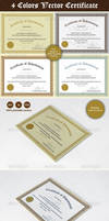 4 color Certificate Designs