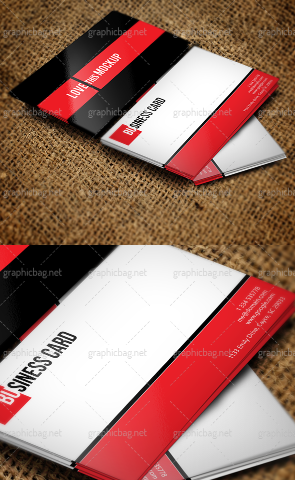 Clean Business Card Mockup for Free by nasirktk