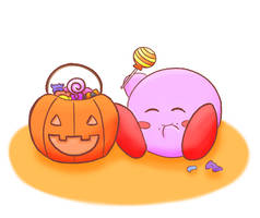 Kirby On Halloween by dreamingsandwich