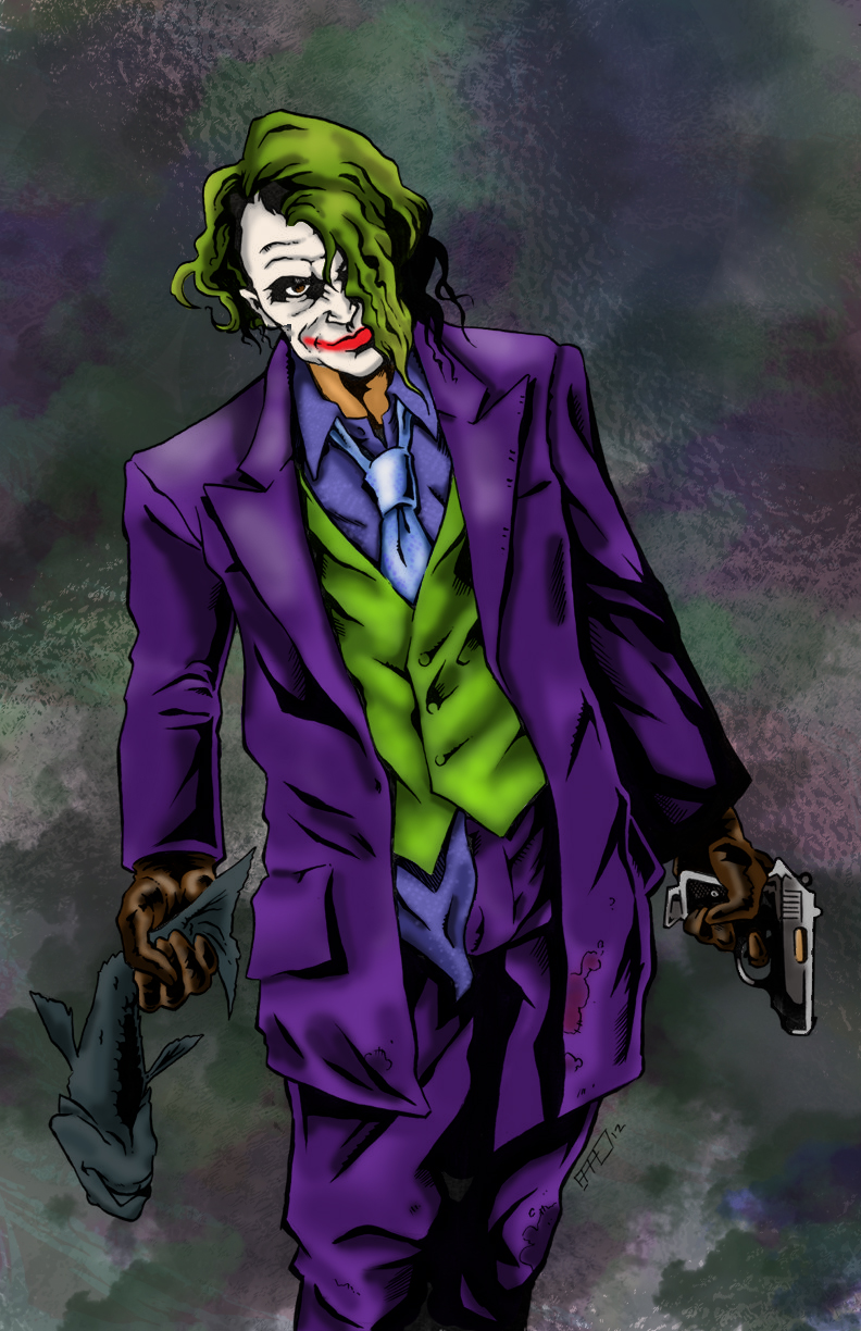 Digital Coloring: Joker by Brad Hudson by Punch-line-designs