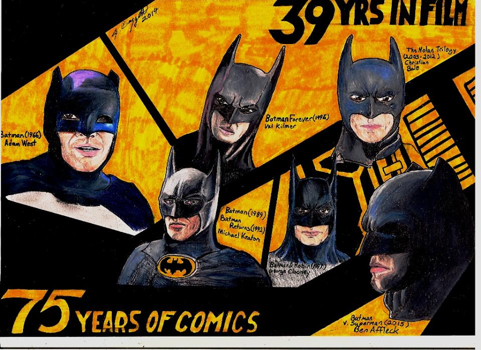 Batman: 39 Years on Film by Punch-line-designs