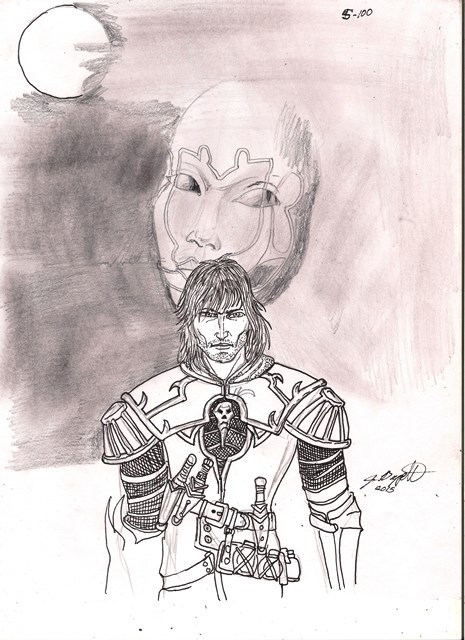 Day 5 of 100 Drawings: Castlevania LOS sketch by Punch-line-designs