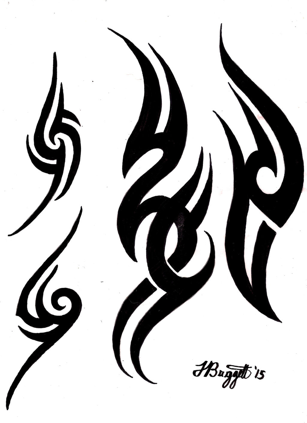 Tribal tattoo flash by punch line designs on deviantart for Tribal tattoo shops near me
