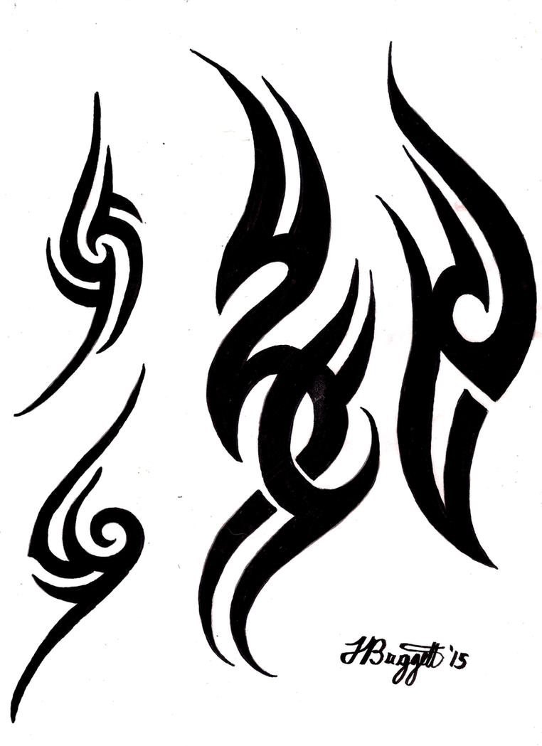 Tribal Tattoo Flash by Punch-line-designs