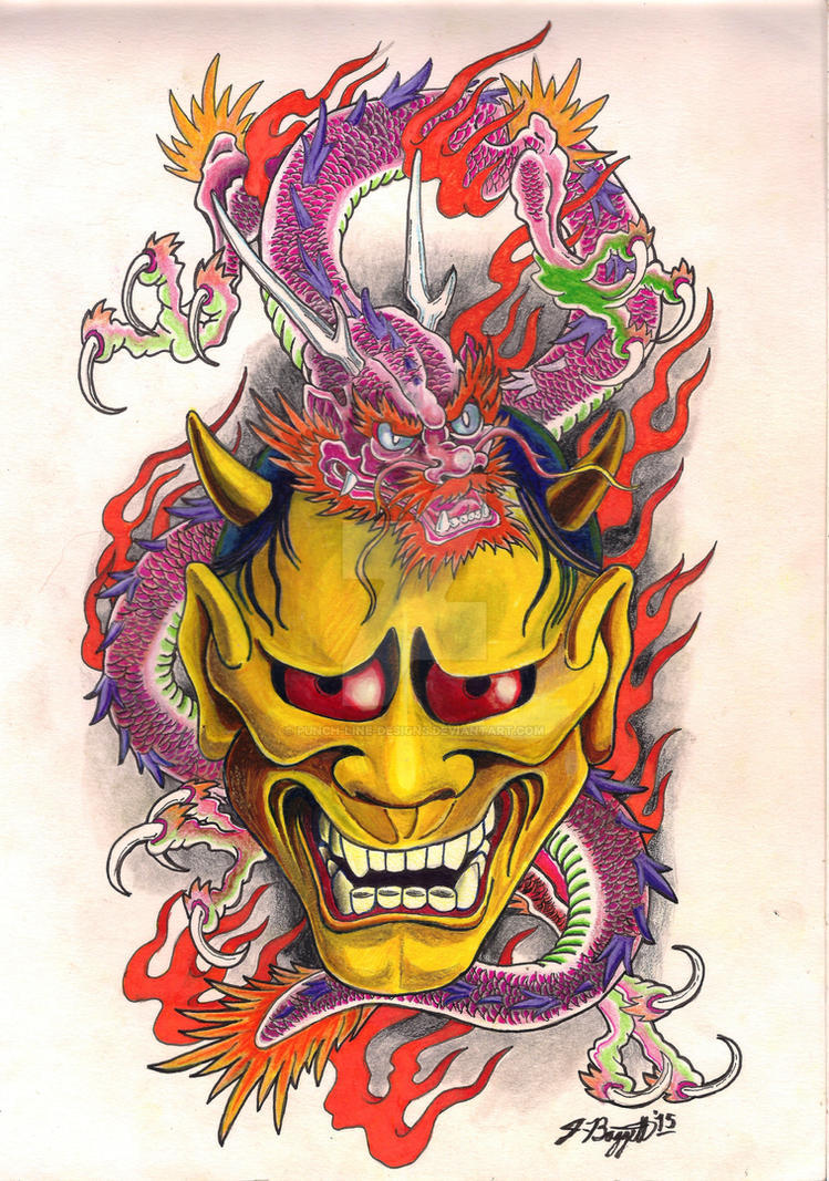 Traditional japanese demon