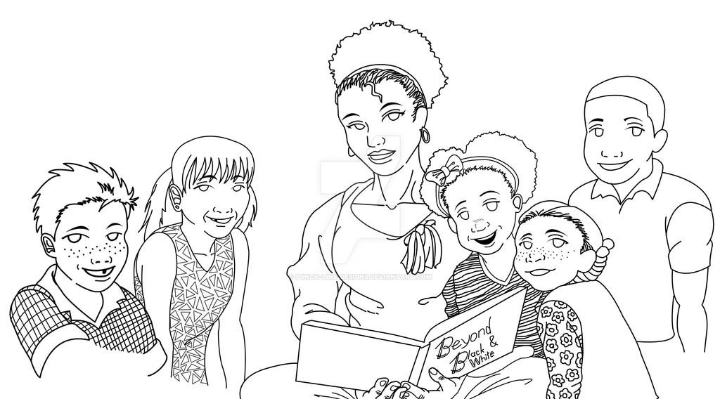 Wip Beyond Black And White Kids Pt 2 By Punch Line Designs On Deviantart