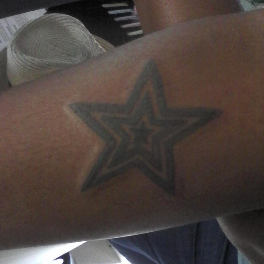 Triple Star Tattoo by J.Baggett by Punch-line-designs