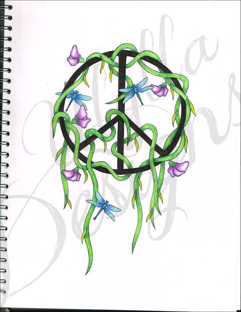 Peace Sign Designs Peace Sign Tattoo Design by
