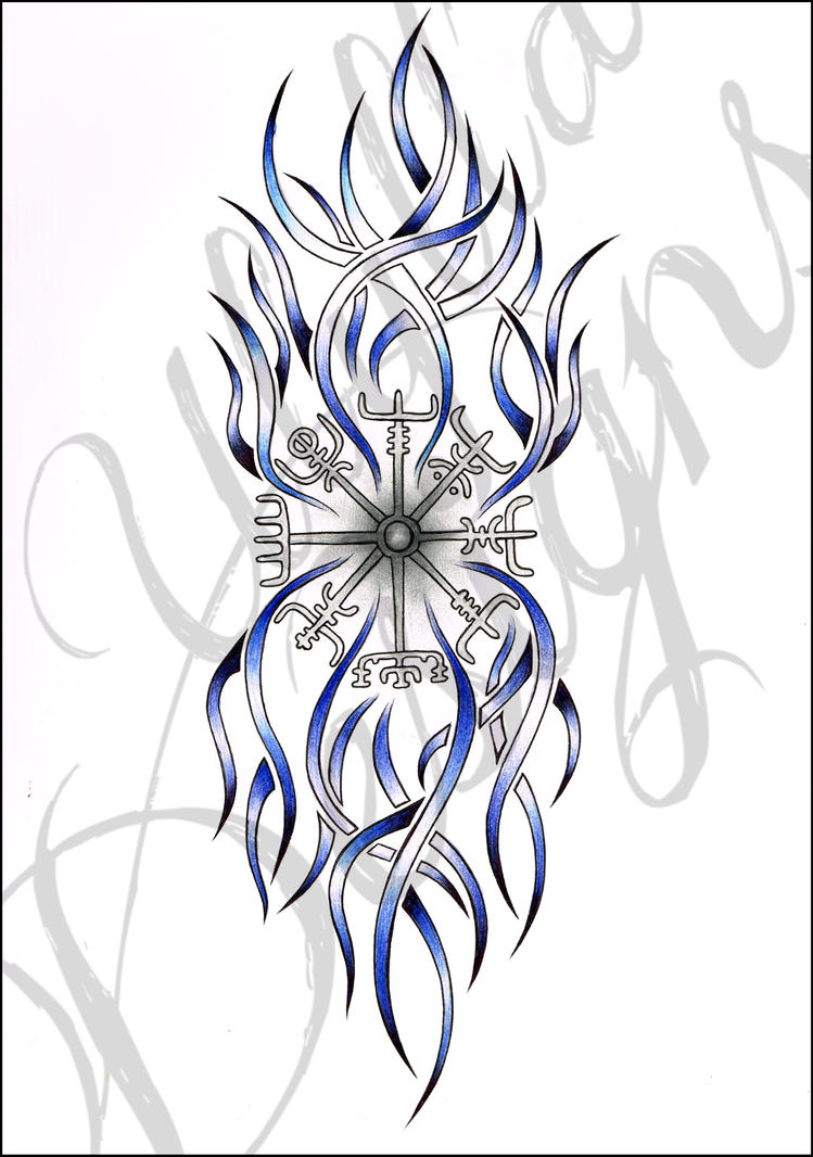 tribal viking compass tattoo request by ulylla on deviantart. Black Bedroom Furniture Sets. Home Design Ideas