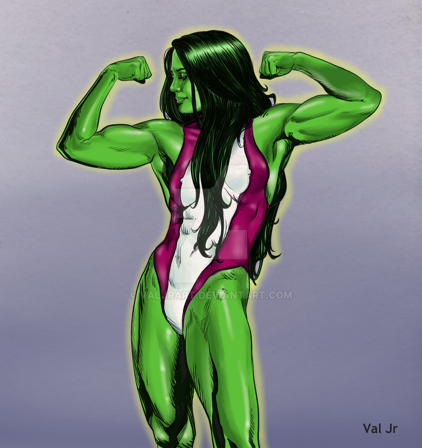 She Hulk by valjrart