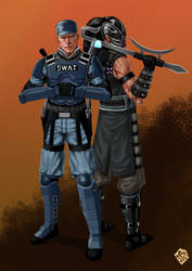 Commission - Stryker and Kabal by Kachakacha