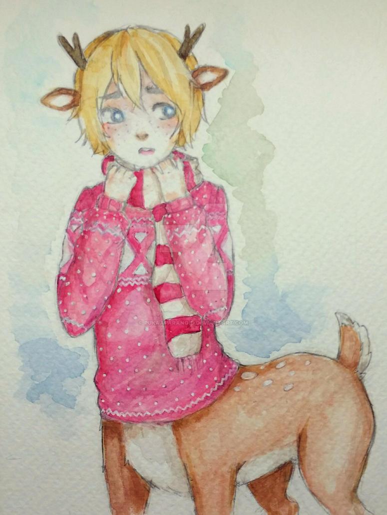 Deer Taur OC by PukaaParanoid