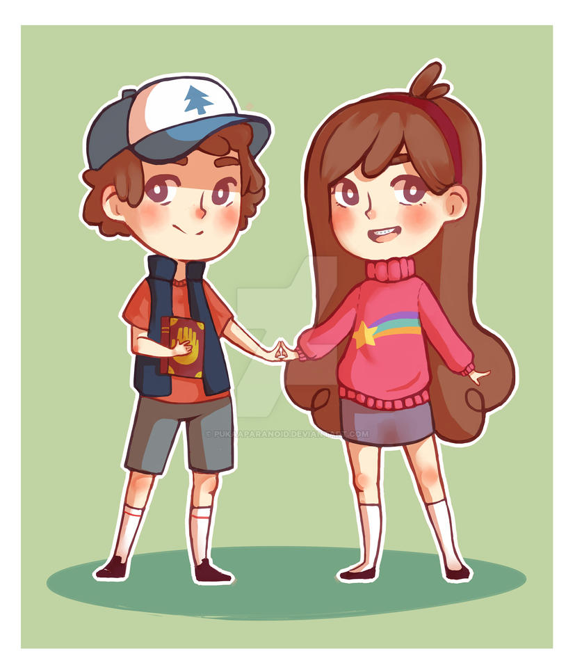 Dipper and Mabel - Gravity Falls by PukaaParanoid