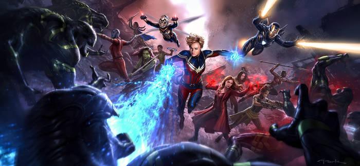 Marvel Wallpaper Avengers Endgame Woman Scene