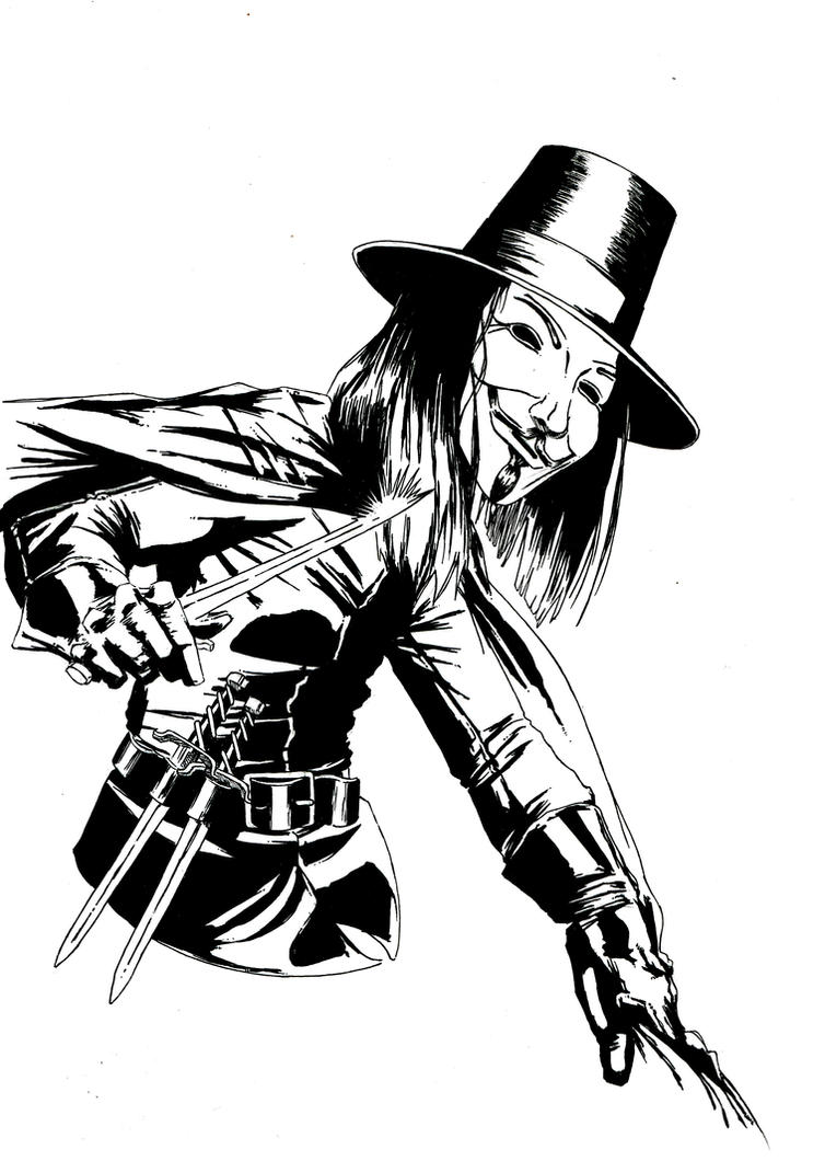 v for vendetta coloring pages - photo #19