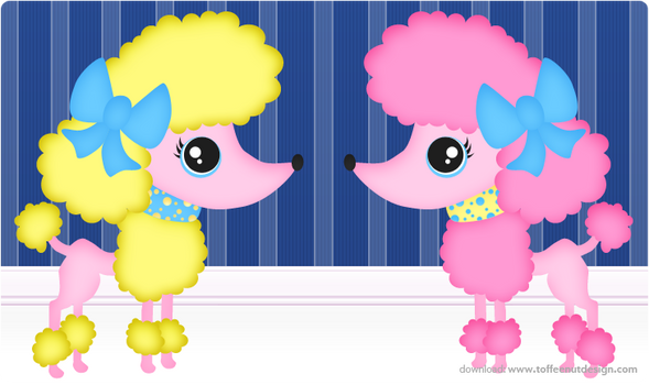 Wall: Poodles