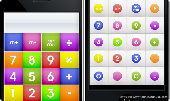 iPhone: CandyMilk Calculator