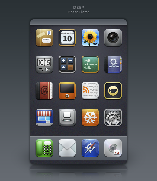 Deep iPhone Theme by ToffeeNut