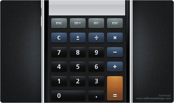 Matte Calculator iPhone Theme
