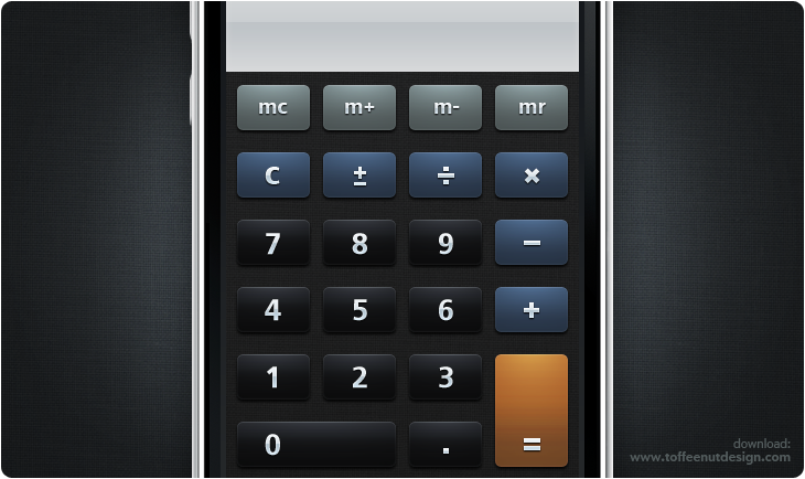 Matte Calculator iPhone Theme by ToffeeNut