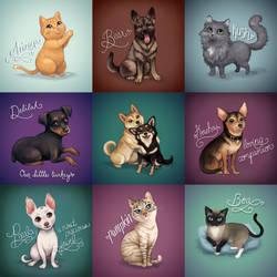 Pet Portraits! by TealSeaArt