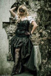 Steampunk Girl by Cosmy-Milord