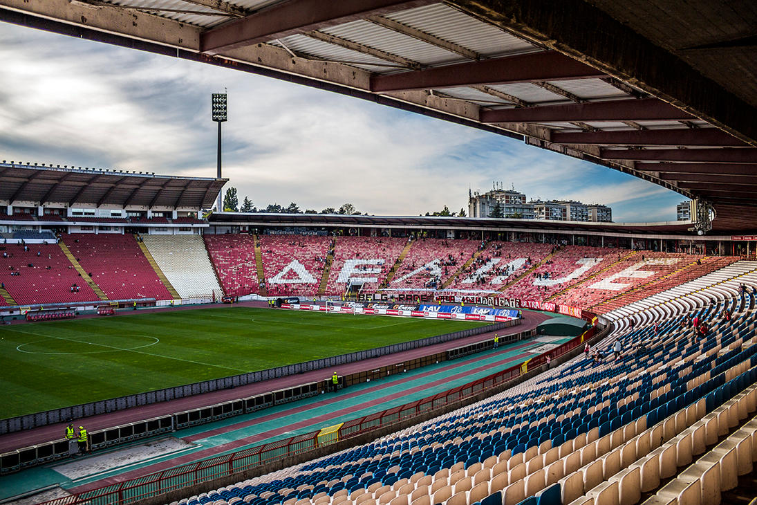 Red Star FC Stadium Belgrade by MilanNikolaPetrovic